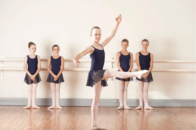 El movimiento de ballet PIROUETTE