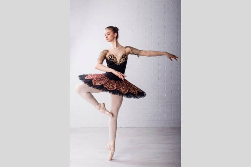 Pirouette bailarina entrenar
