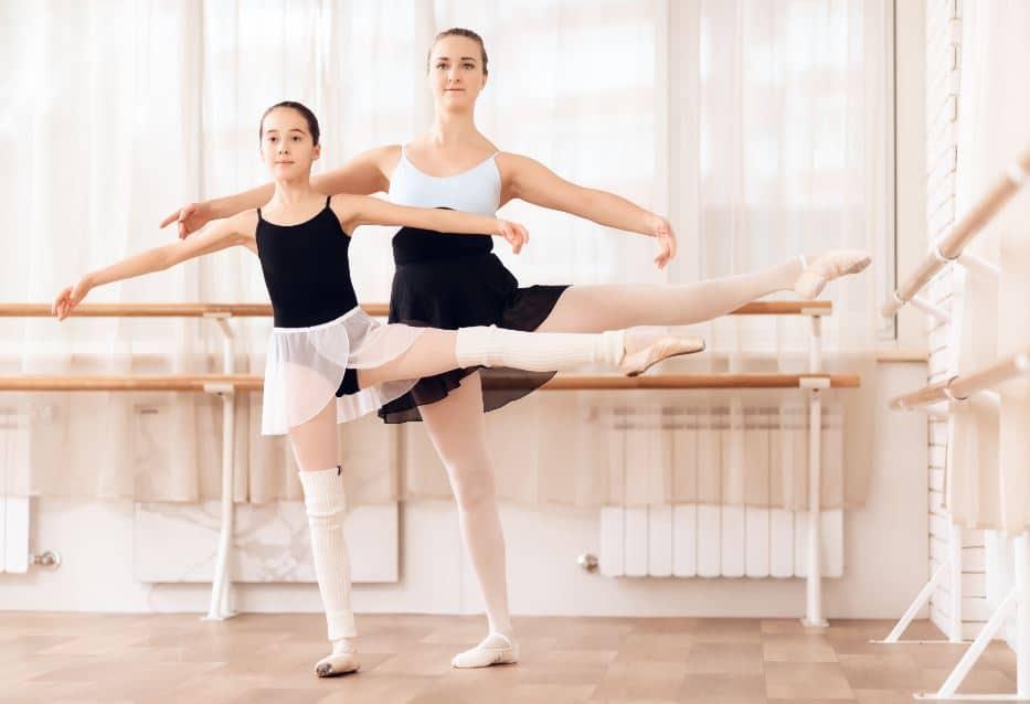 El movimiento de ballet FOUETTÉ